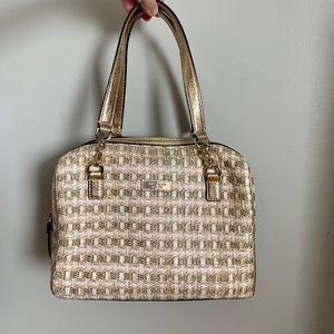 Kate Spade Bag Leather Straw Purse Like New W100